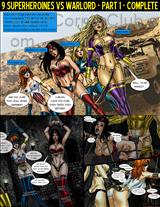 9 Superheroines vs Warlord Title Image